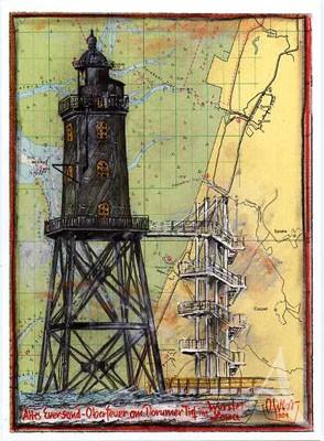 """Postkarte """"Eversand - Oberfeuer"""""""