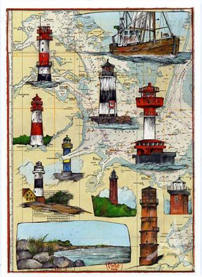 "Postkarte ""Ostsee - Flensburg - Lübeck"""