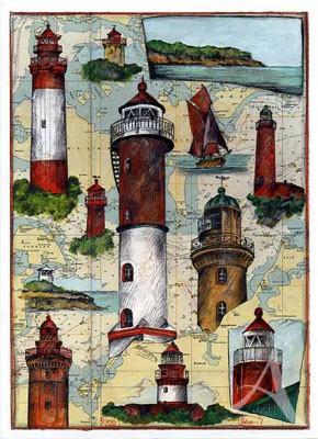 "Postkarte ""Ostsee - Wismar - Darß"""