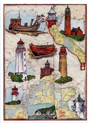 """Postkarte """"Ostsee - Hiddensee - Usedom"""""""