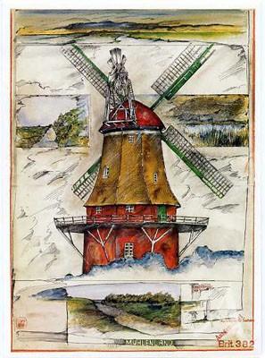 """Postkarte """"Mühlenland"""""""
