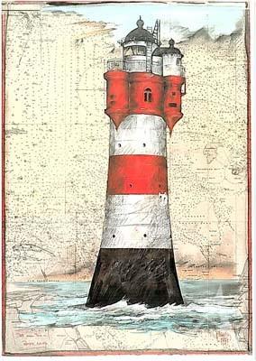 "Postkarte ""Roter Sand"""