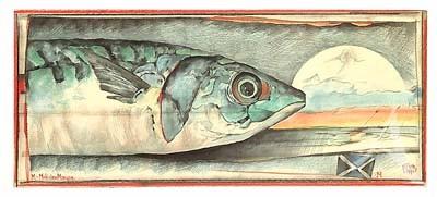 "Postkarte, ""MakrelenMorgen"" , DIN lang"