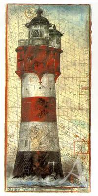 """Postkarte, """"Roter Sand"""" , DIN lang"""
