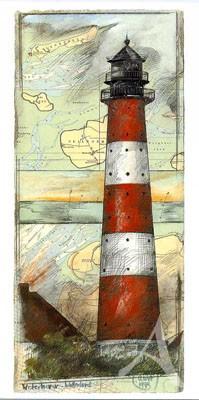 "Postkarte, ""Westerhever"" , DIN lang"