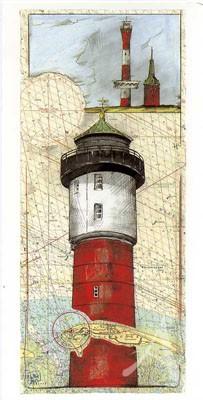 "Postkarte, ""Wangerooge"" , DIN lang"