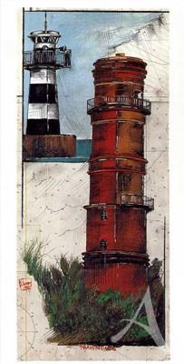 "Postkarte, ""Travemünde"" , DIN lang"