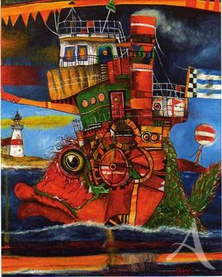 "Maxi- Postkarte, ""Fischdampfer"""