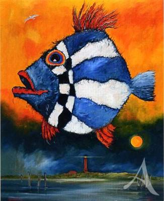 "Maxi- Postkarte, ""Norderney - Fisch"""