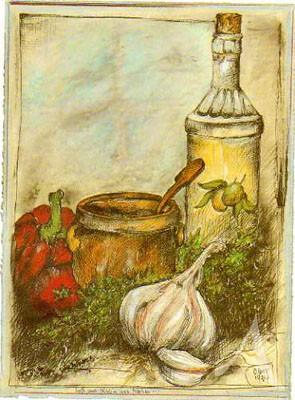 """Postkarte """"Laß uns `n büschn was kochen"""""""