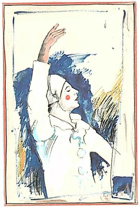 "Postkarte ""Pierrot"""