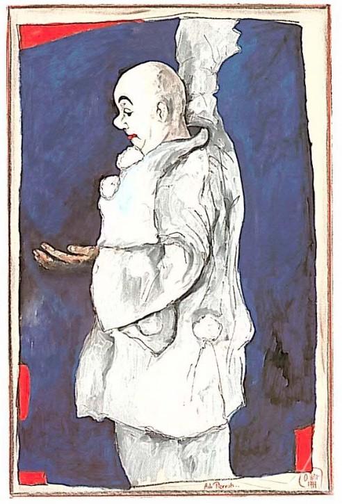 "Postkarte ""Ach, Pierrot"""