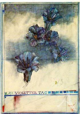 "Postkarte ""Blau-Violetter Tag"""