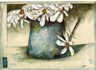"Postkarte ""Blau-Weiß"""