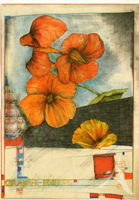 "Postkarte ""Orange-Roter-Tag"""
