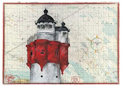 "Maxi- Postkarte, ""R.S. Roter Sand"""