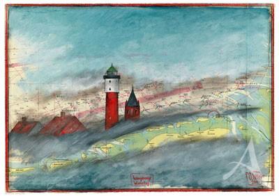 "Maxi- Postkarte, ""Wangerooge, Wintertag"""