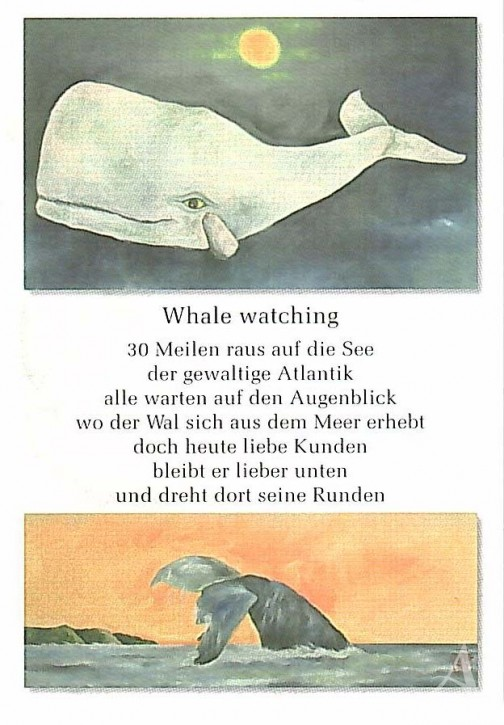 "Postkarte ""Whale watching"""