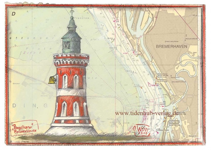 "Postkarte ""Pingelturm - Bremerhaven"""