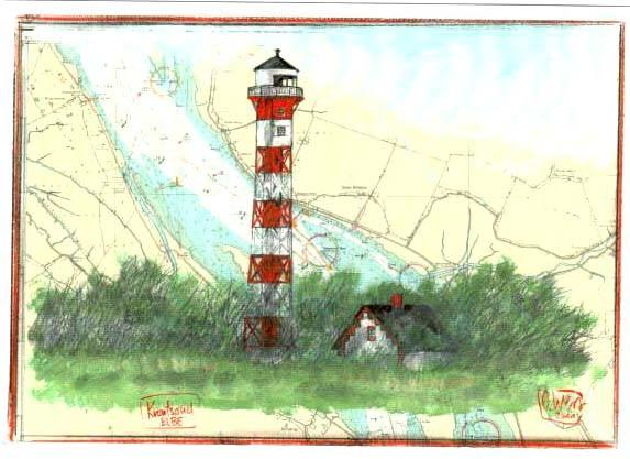 "Postkarte ""Krautsand, Elbe"""
