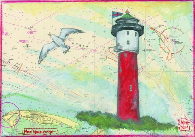 """Postkarte """"Moin Wangerooge"""" von OLE WEST"""