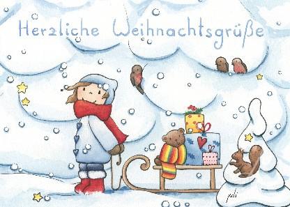"""Postkarte """"Herzliche Weihnachtsgrüße"""""""