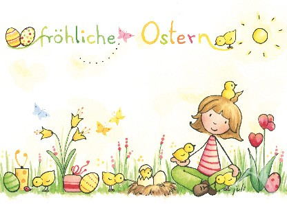 "Postkarte ""Fröhliche Ostern"""