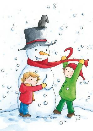 "Postkarte ""Hurra, der Winter ist da"""