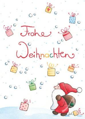 """Postkarte """"Frohe Weihnachten (Geschenke)"""""""