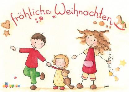 """Postkarte """"Fröhliche Weihnachten (Familie)"""""""