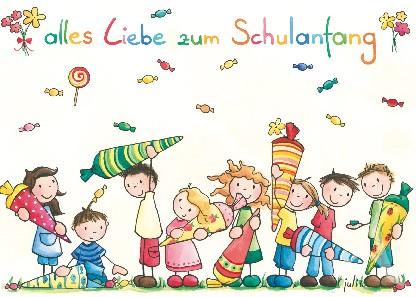 """Postkarte """"Alles Liebe zum Schulanfang"""""""