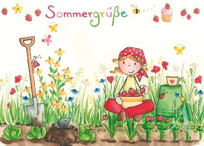 """Postkarte """"Sommergrüße"""""""