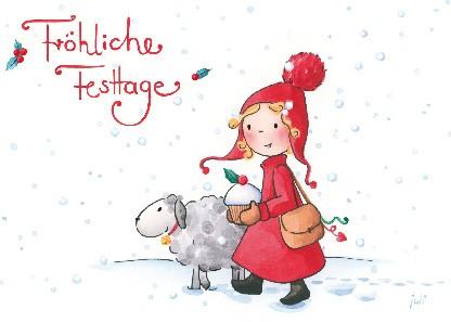 "Postkarte ""Fröhliche Festtage"""