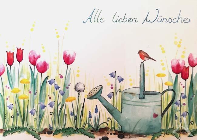 """Postkarte """"Alle lieben Wünsche"""""""