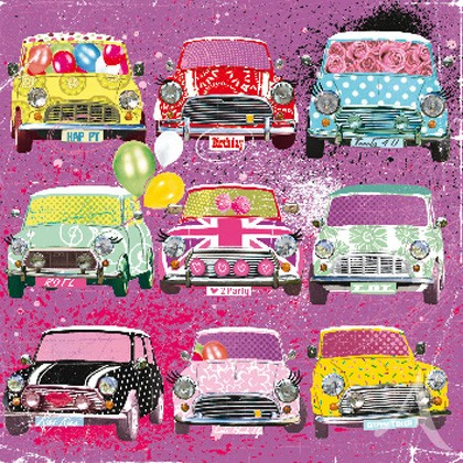 "Doppelkarte, ""Happy Birthday"" (Minis) - quadratisch"