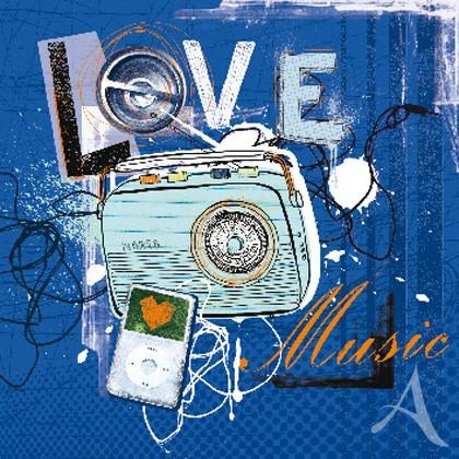"Doppelkarte, ""Love Music"" - quadratisch"
