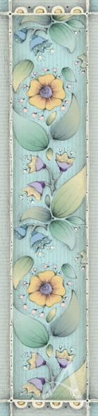 """Lesezeichen """"Blumenmuster blau"""""""