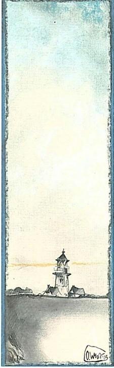 """Lesezeichen """"Leuchtturm"""""""