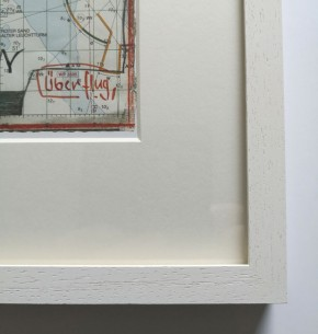 """""""Überflug"""" (Roter Sand) - GERAHMTER Kunstdruck - HANDSIGNIERT von Ole West - (30 x 40)"""