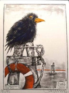 """VORZUGSAUSGABE: -------------> """"HAFENRABEN - und andere seltene Küstenvögel"""" - von OLE WEST - mit eingelegter Grafik!!"""