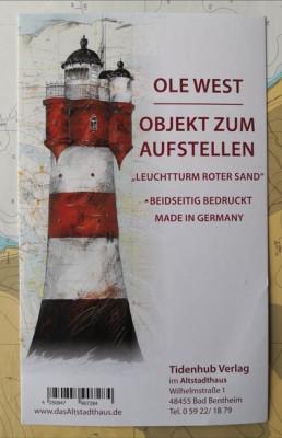 """SKULPTUR - """"Leuchtturm Roter Sand"""" - OBJEKT ZUM AUFSTELLEN - Ole West"""