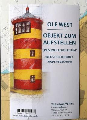 """SKULPTUR - """"Leuchtturm Pilsum"""" - OBJEKT ZUM AUFSTELLEN - Ole West"""