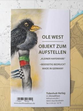 """SKULPTUR - """"Kleiner Hafenrabe"""" - OBJEKT ZUM AUFSTELLEN - Ole West"""