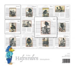 """NEU: """"HAFENRABEN"""" von OLE WEST - Der Geburtstagskalender - HANDSIGNIERTES Exemplar !"""