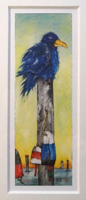 """""""Morgens war es..."""" (Vogel) - GERAHMTER Kunstdruck von Ole West - (21 x 30)"""