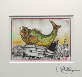 """""""Man muß ja nicht alles glauben..."""" - GERAHMTER Kunstdruck - HANDSIGNIERT von Ole West - (24 x 30)"""