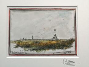 """""""Norderney / Wattseite"""" - GERAHMTER Kunstdruck - HANDSIGNIERT von Ole West - (24 x 30)"""