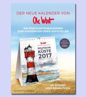 POSTKARTENKALENDER von OLE WEST für 2017