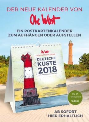 Der POSTKARTENKALENDER von OLE WEST für 2018